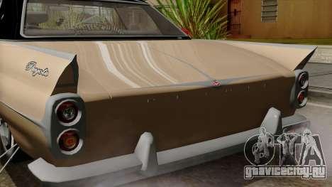 Vapid Peyote Bel-Air для GTA San Andreas вид изнутри