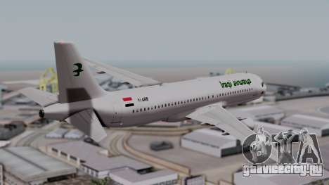 Airbus A320-200 Iraqi Airways для GTA San Andreas вид слева