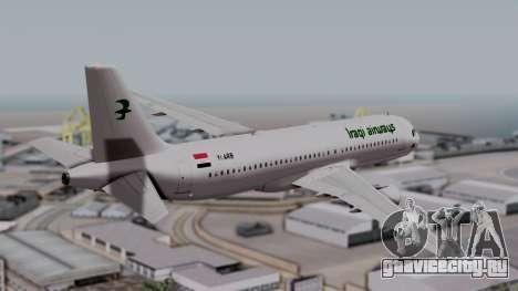 Airbus A320-200 Iraqi Airways для GTA San Andreas вид слева