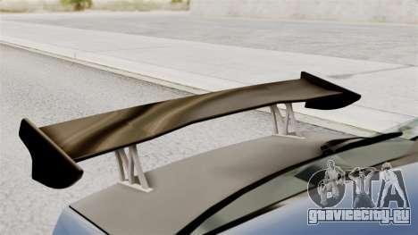 Mitsubishi Lancer Evolution v2 для GTA San Andreas вид сзади