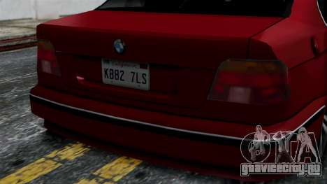BMW M5 E39 SA Style для GTA San Andreas вид справа