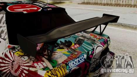 Nissan R13 для GTA San Andreas вид сзади