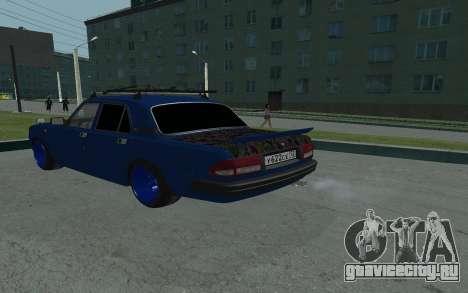 GAZ 3110 Volga для GTA San Andreas вид сзади слева