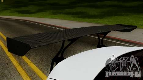 Subaru BRZ 2010 Rocket Bunny v1 для GTA San Andreas вид сзади