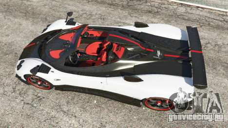 Pagani Zonda Cinque Roadster для GTA 5 вид сзади