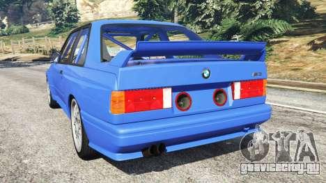 BMW M3 (E30) 1991 для GTA 5 вид сзади слева