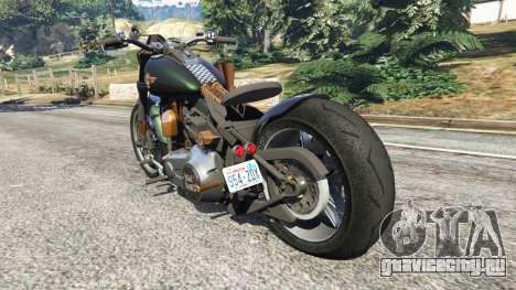 Harley-Davidson Fat Boy Lo Racing Bobber v1.1 для GTA 5 вид сзади слева