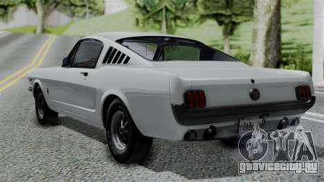Ford Mustang Fastback 289 1966 для GTA San Andreas вид слева