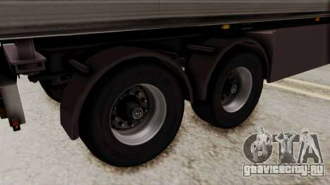 Cooliner Trailer from ETS 2 для GTA San Andreas вид сзади слева