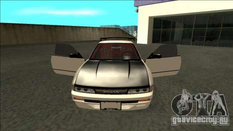 Nissan Silvia S13 Drift для GTA San Andreas вид изнутри