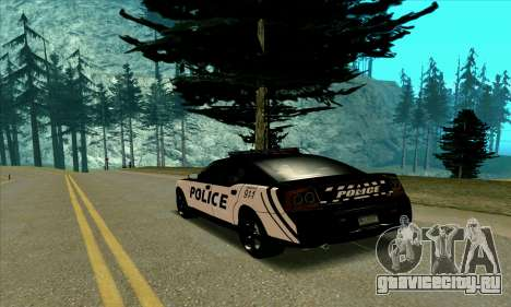 Federal Police Dodge Charger SRT8 для GTA San Andreas вид сзади слева