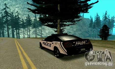 Federal Police Dodge Charger SRT8 для GTA San Andreas вид сзади слева