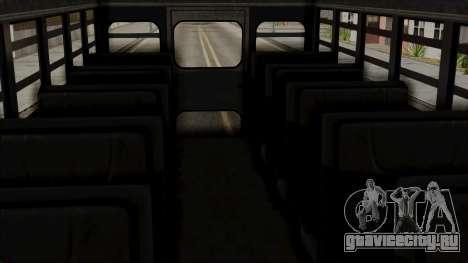 Prison Bus для GTA San Andreas вид справа