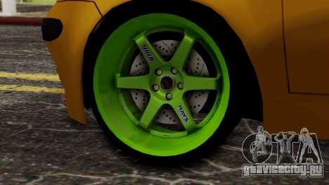 Daewoo Matiz Tuning для GTA San Andreas вид сзади слева