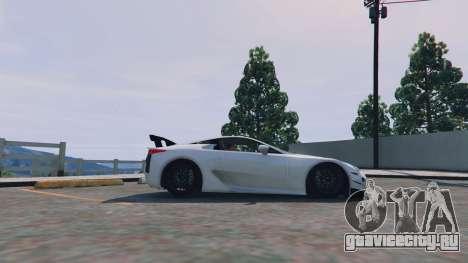Lexus LFA 2012 для GTA 5 вид слева