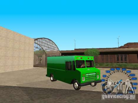 Boxville Sprite для GTA San Andreas вид сзади
