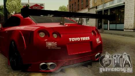 Nissan GT-R Liberty Walk Performance для GTA San Andreas вид изнутри