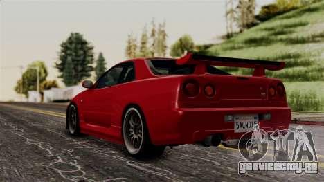 Nissan Skyline GT-R R34 2012 для GTA San Andreas вид слева