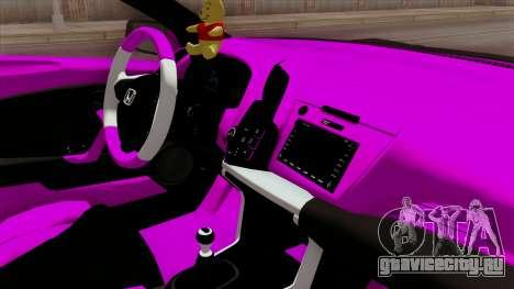 Honda CRZ Hybrid для GTA San Andreas вид справа