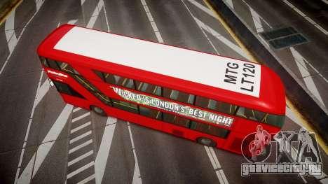 Wrightbus New Routemaster Metroline для GTA 4 вид справа