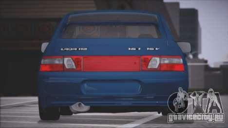 ВАЗ 2112 Качественный Сток для GTA San Andreas вид справа