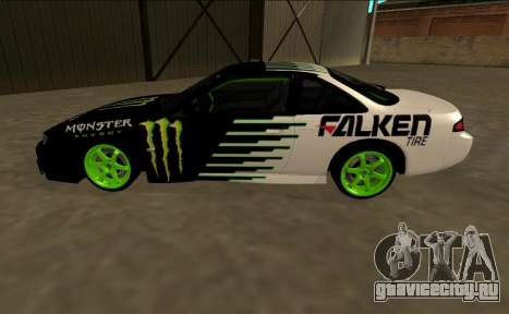Nissan 200SX Drift Monster Energy Falken для GTA San Andreas вид слева