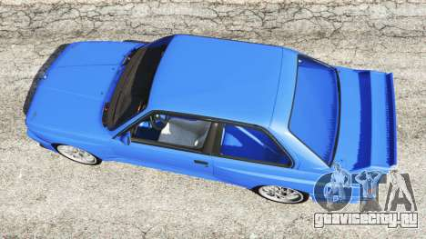 BMW M3 (E30) 1991 для GTA 5 вид сзади