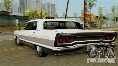 Taxi-Savanna для GTA San Andreas вид слева