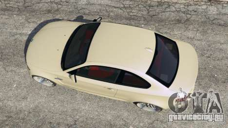 BMW 1M v1.1 для GTA 5 вид сзади