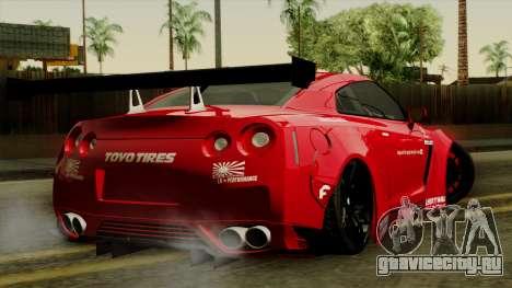 Nissan GT-R Liberty Walk Performance для GTA San Andreas вид слева