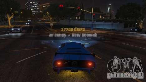 Drift HUD для GTA 5 второй скриншот