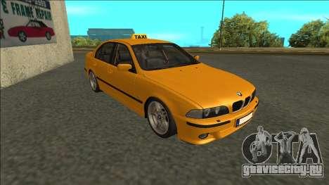 1999 BMW 530d E39 Taxi для GTA San Andreas вид слева