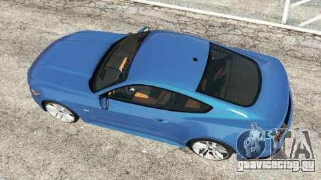 Ford Mustang GT 2015 для GTA 5 вид сзади