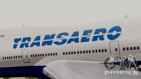 Boeing 747 TransAero для GTA San Andreas вид сзади