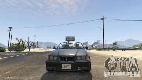 BMW M3 E36 Cabriolet 1997 для GTA 5 вид сзади справа