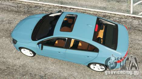 Volvo S60 [Beta] для GTA 5 вид сзади
