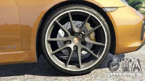 Porsche Boxster GTS для GTA 5 вид сзади справа