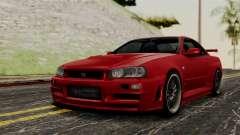 Nissan Skyline GT-R R34 2012 для GTA San Andreas