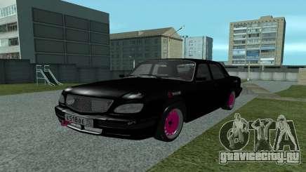 ГАЗ 31105 Волга Черно-Розовый для GTA San Andreas
