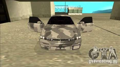 Nissan Silvia S14 Army Drift для GTA San Andreas вид изнутри