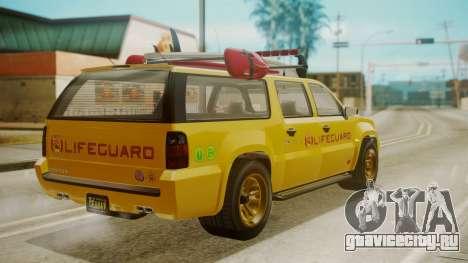 GTA 5 Declasse Granger Lifeguard для GTA San Andreas вид слева