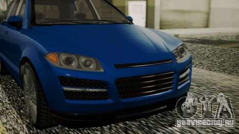 GTA 5 Obey Rocoto IVF для GTA San Andreas вид сзади