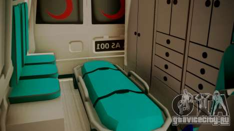 Ford Transit Jumbo Ambulance для GTA San Andreas вид сзади