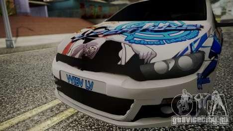 Volkswagen Scirocco для GTA San Andreas вид справа