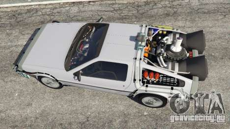 DeLorean DMC-12 Back To The Future v0.4 для GTA 5 вид сзади