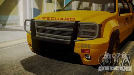 GTA 5 Declasse Granger Lifeguard IVF для GTA San Andreas вид сзади
