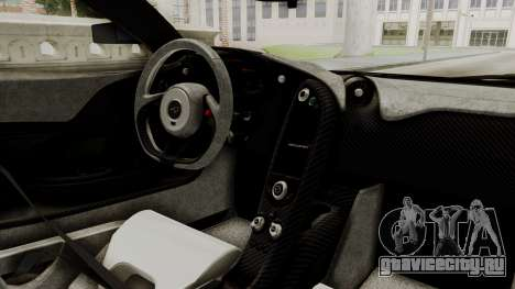 McLaren P1 GTR v1.0 для GTA San Andreas вид справа