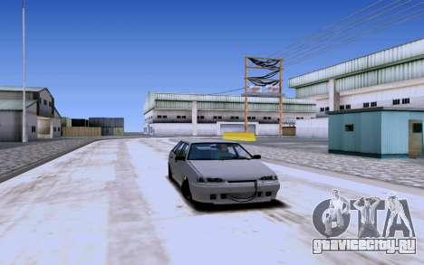 Ваз 2114 Турбо для GTA San Andreas вид сзади