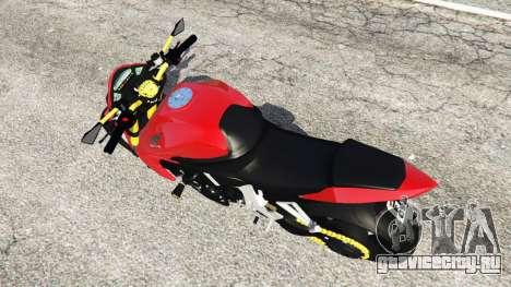 Honda CB1000R для GTA 5 вид сзади