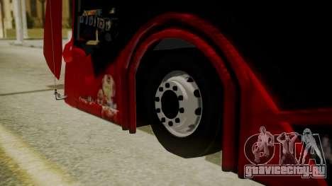 Bus Iron Man для GTA San Andreas вид сзади слева